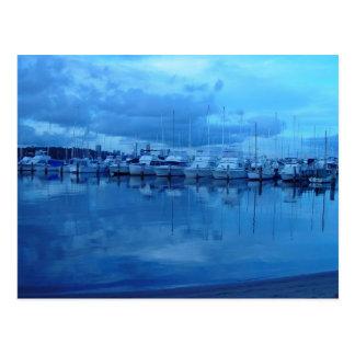 Cartão Postal Barcos e reflexões no yacht club real de Perth