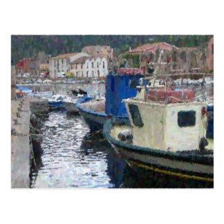 Cartão Postal Barcos em Sardinia