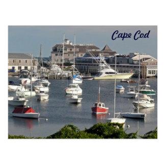 Cartão Postal Barcos em um porto de Cape Cod durante o verão
