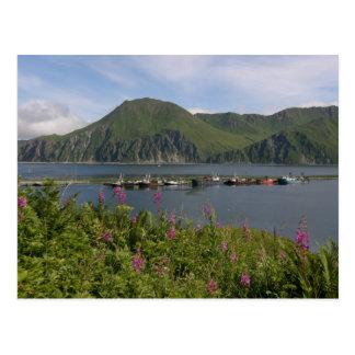 Cartão Postal Barcos no cuspe no porto holandês, Alaska
