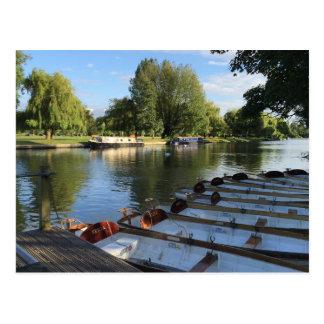 Cartão Postal Barcos no rio, Stratford em cima do viagem