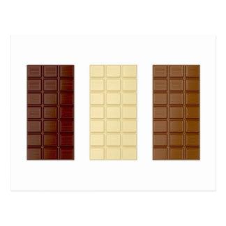 Cartão Postal Bares de chocolate