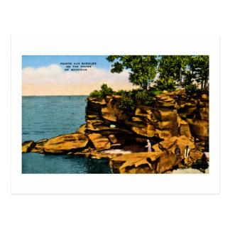 Cartão Postal Barques auxiliares de Pointe do polegar de