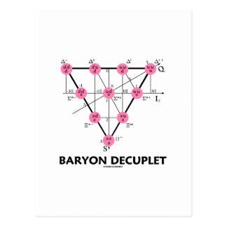 Cartão Postal Baryon Decuplet (física de partícula)