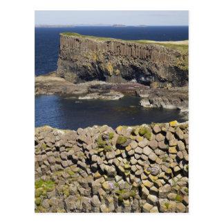 Cartão Postal Basalto poligonal, Staffa, fora da ilha Mull,