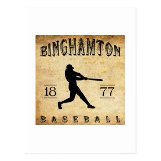 Cartão Postal Basebol 1877 de Binghamton New York