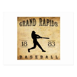 Cartão Postal Basebol 1883 de Grand Rapids Michigan