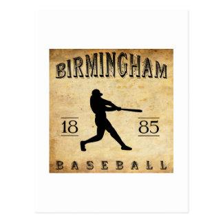 Cartão Postal Basebol 1885 de Birmingham Alabama