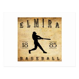 Cartão Postal Basebol 1885 de Elmira New York