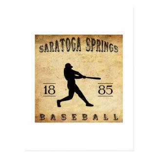 Cartão Postal Basebol 1885 de Saratoga Springs New York