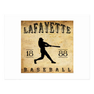 Cartão Postal Basebol 1888 de Lafayette Indiana