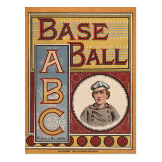 Cartão Postal Basebol ABCs