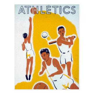 Cartão Postal Basebol do basquetebol do atletismo de WPA do