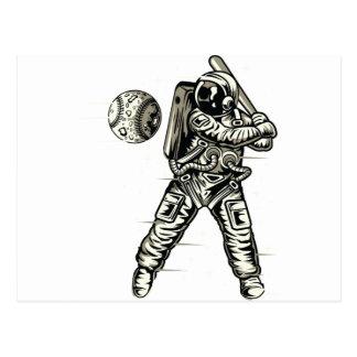 Cartão Postal Basebol do espaço
