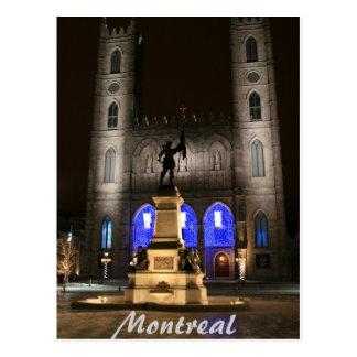 Cartão Postal Basílica de Montreal Notre-Dame