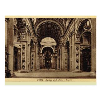 Cartão Postal Basílica de Roma, St Paul interno