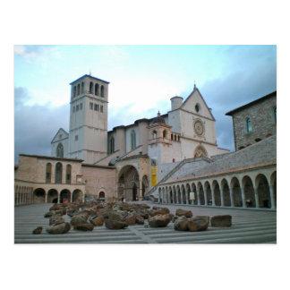 Cartão Postal Basílica de St Francis, Assisi