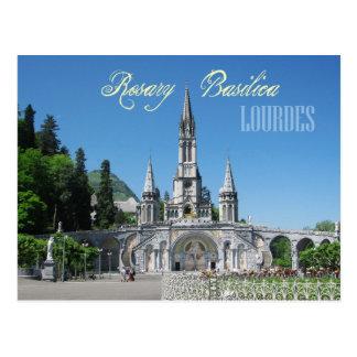 Cartão Postal Basílica do rosário, Lourdes, France