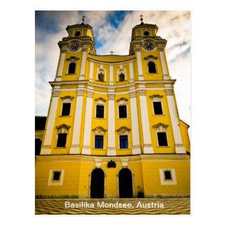 Cartão Postal Basilika Mondsee, Áustria