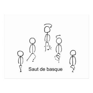 Cartão Postal Basque de Saut de