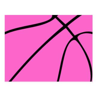 Cartão Postal Basquetebol cor-de-rosa feito sob encomenda