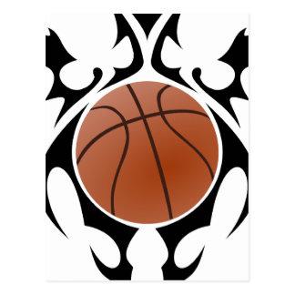 Cartão Postal basquetebol. tribal