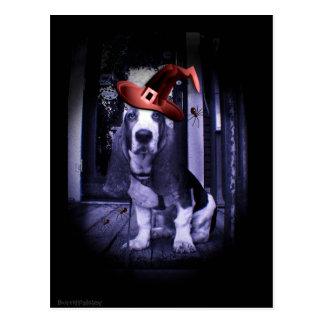 Cartão Postal Basset Hound Howloween 2010