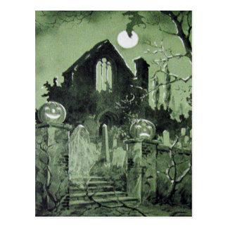 Cartão Postal Bastão assombrado do fantasma da lanterna de Jack