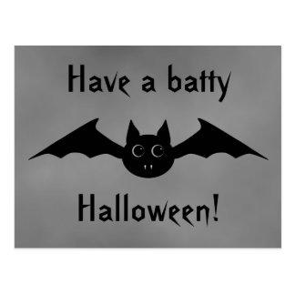Cartão Postal Bastão de vampiro gótico bonito do Dia das Bruxas