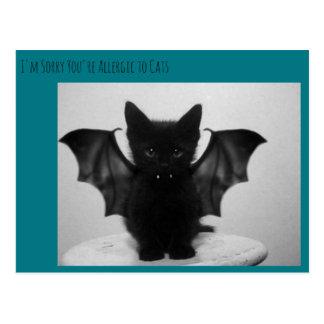 Cartão Postal bastão do gatinho