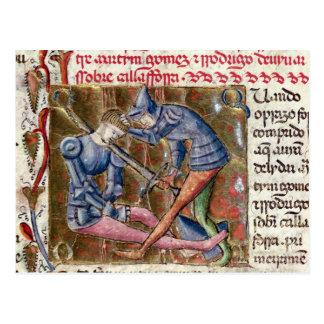 Cartão Postal Batalha crónicas de Gómez Martin El Cid 'de