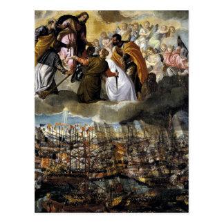 Cartão Postal Batalha de Lepanto por Paolo Veronese
