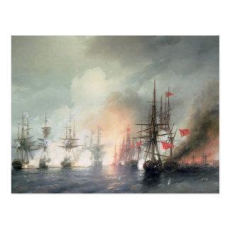 Cartão Postal Batalha de mar Russo-Turca de Sinop