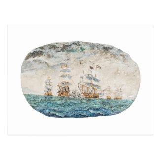 Cartão Postal Batalha de Trafalgar 1805 1998