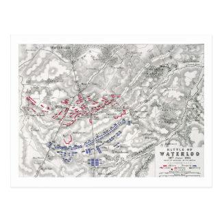 Cartão Postal Batalha de Waterloo, o 18 de junho de 1815, folha