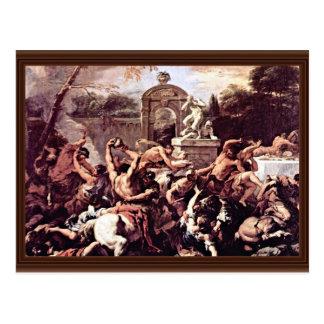 Cartão Postal Batalha dos centauros e do Lapiths por Ricci