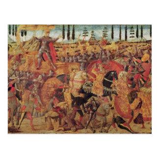 Cartão Postal Batalha entre Darius e Alexander o excelente