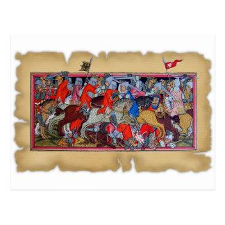 Cartão Postal Batalha medieval