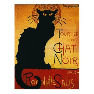 Cartão Postal Bate-papo Noir - gato preto