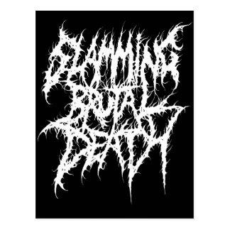 Cartão Postal Batendo o metal brutal da morte