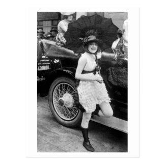 Cartão Postal Bather de Los Angeles, 1900s adiantados