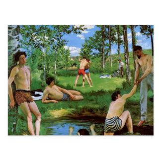 Cartão Postal Bathers de Frederic Bazille- (cena do verão)