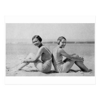 Cartão Postal Bathers do vintage