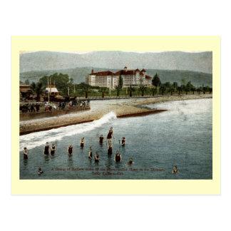 Cartão Postal Bathers, oleiro do hotel, Santa Barbara CA, 1908