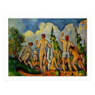 Cartão Postal Bathers por Paul Cezanne