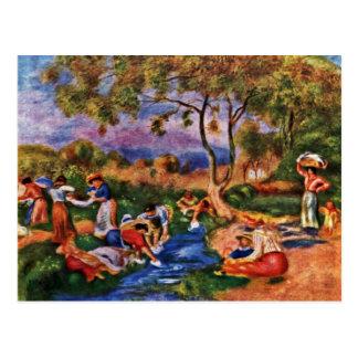 Cartão Postal Bathers por Pierre-Auguste Renoir (a melhor