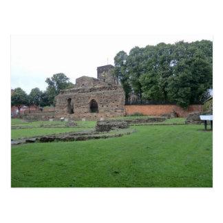 Cartão Postal Bathhouse romano em Leicester, Inglaterra