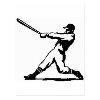 Cartão Postal Batida do basebol