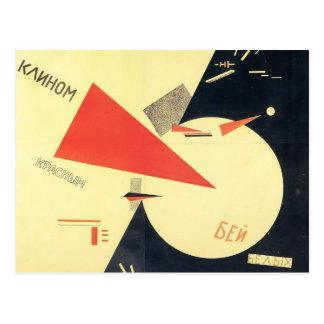 Cartão Postal Batida do EL Lissitzky- os brancos com a cunha