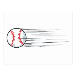 Cartão Postal Batida zumbindo do basebol